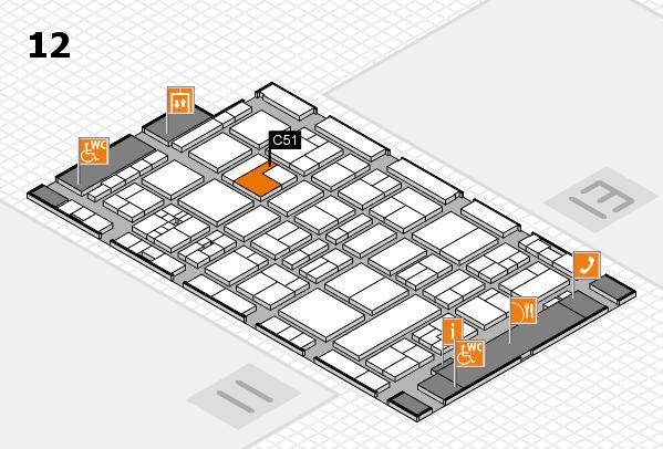drupa 2016 Hallenplan (Halle 12): Stand C51