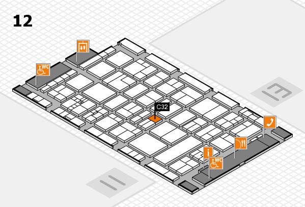 drupa 2016 hall map (Hall 12): stand C32