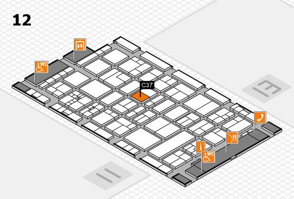 drupa 2016 hall map (Hall 12): stand C37