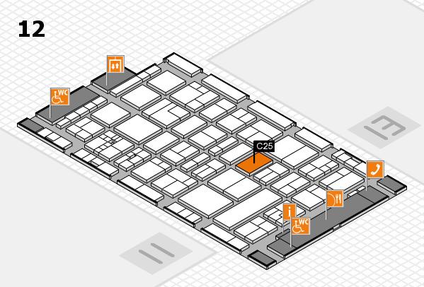 drupa 2016 Hallenplan (Halle 12): Stand C25
