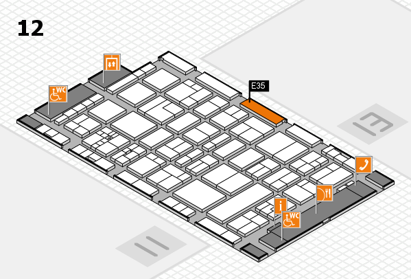 drupa 2016 hall map (Hall 12): stand E35