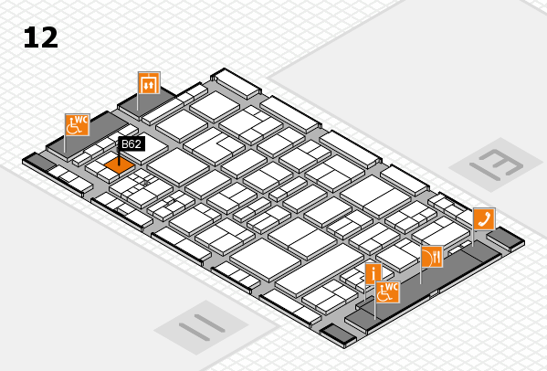 drupa 2016 Hallenplan (Halle 12): Stand B62