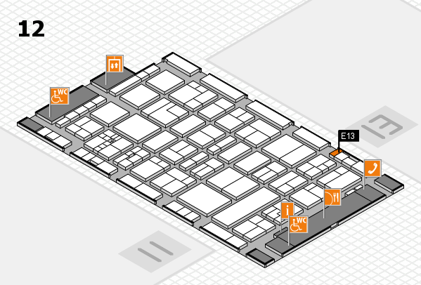 drupa 2016 Hallenplan (Halle 12): Stand E13