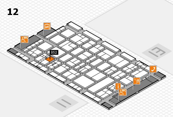 drupa 2016 hall map (Hall 12): stand B52