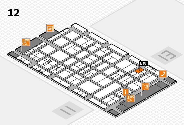 drupa 2016 Hallenplan (Halle 12): Stand E18