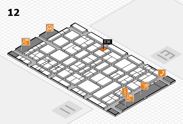 drupa 2016 hall map (Hall 12): stand E36