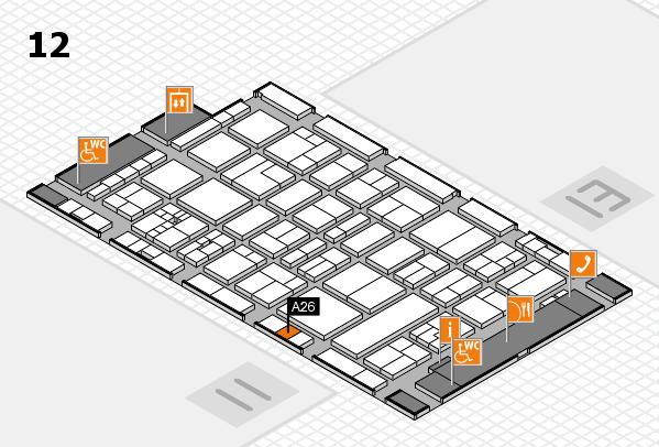 drupa 2016 Hallenplan (Halle 12): Stand A26