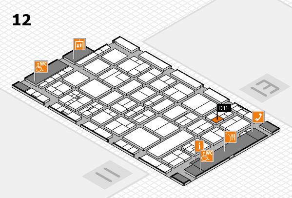 drupa 2016 Hallenplan (Halle 12): Stand D11
