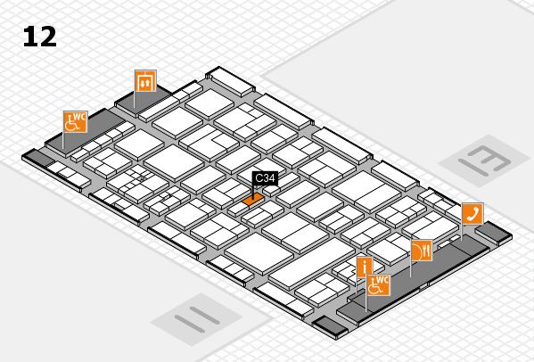 drupa 2016 hall map (Hall 12): stand C34