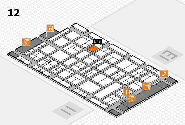 drupa 2016 Hallenplan (Halle 12): Stand D43