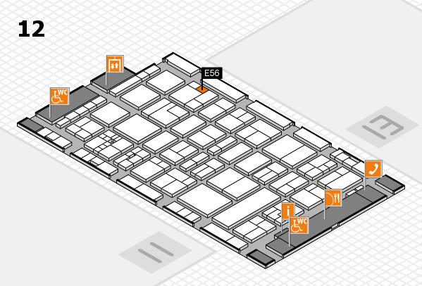 drupa 2016 Hallenplan (Halle 12): Stand E56