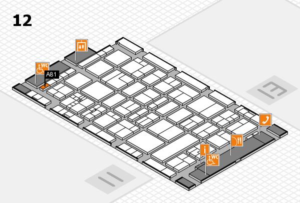 drupa 2016 Hallenplan (Halle 12): Stand A81