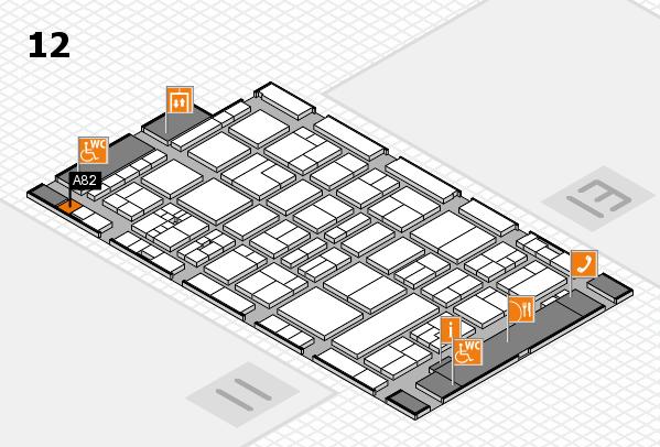 drupa 2016 Hallenplan (Halle 12): Stand A82