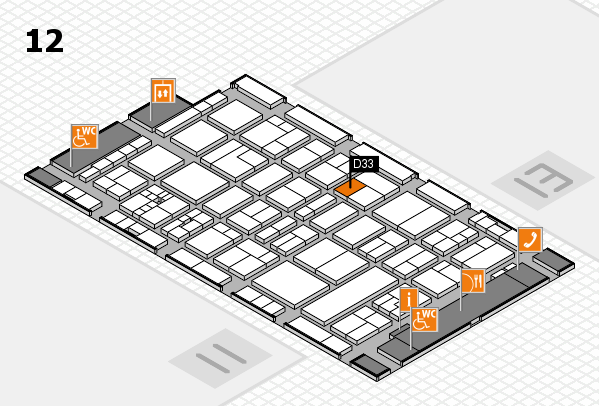 drupa 2016 Hallenplan (Halle 12): Stand D33