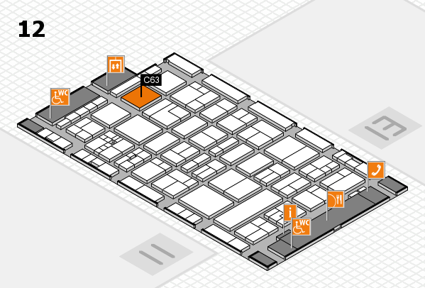 drupa 2016 hall map (Hall 12): stand C63