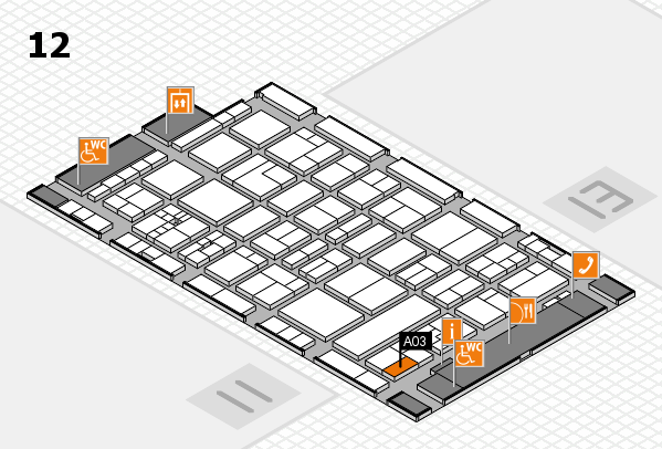 drupa 2016 hall map (Hall 12): stand A03