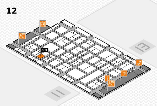 drupa 2016 Hallenplan (Halle 12): Stand A53