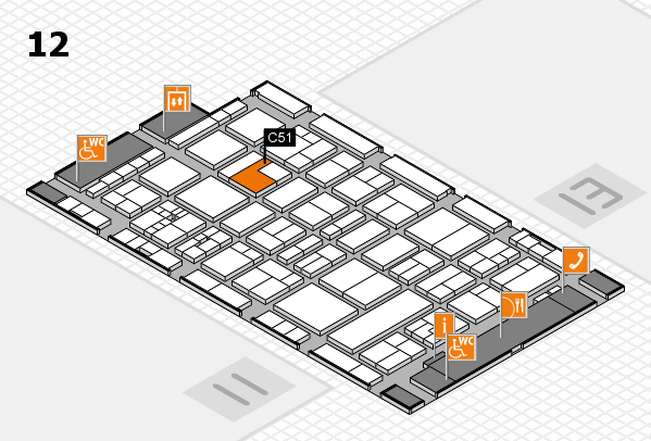 drupa 2016 hall map (Hall 12): stand C51