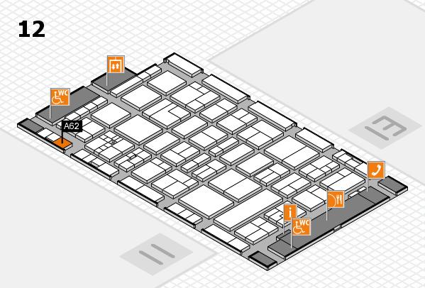 drupa 2016 Hallenplan (Halle 12): Stand A62