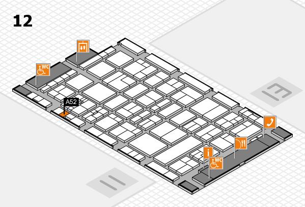 drupa 2016 Hallenplan (Halle 12): Stand A52