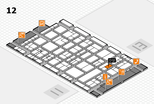 drupa 2016 hall map (Hall 12): stand D12