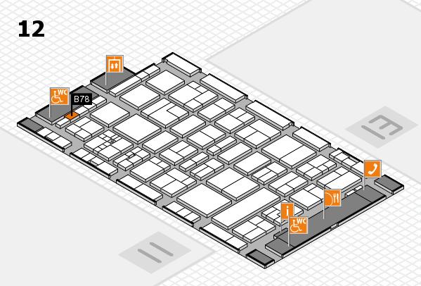drupa 2016 Hallenplan (Halle 12): Stand B78