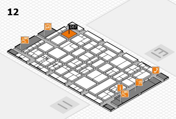 drupa 2016 Hallenplan (Halle 12): Stand D57