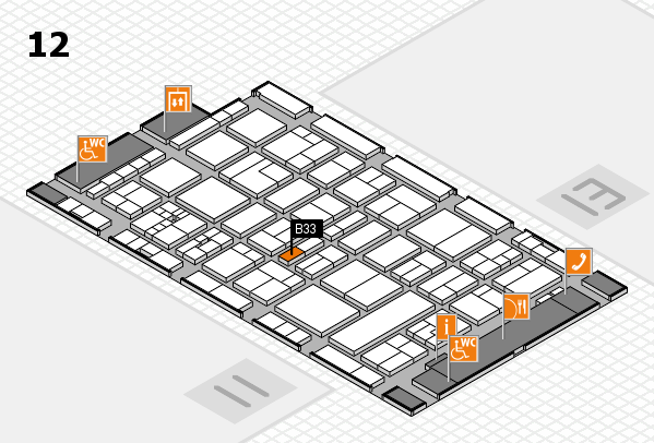 drupa 2016 Hallenplan (Halle 12): Stand B33
