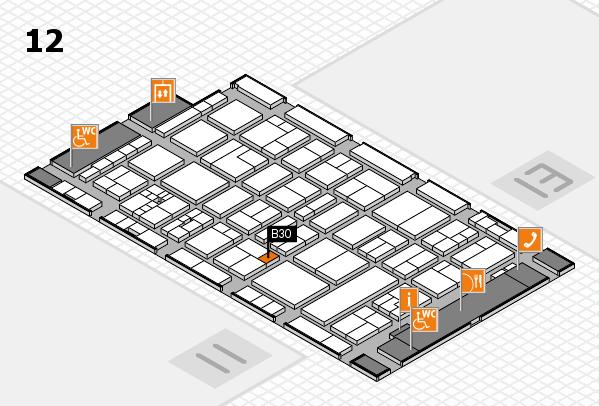 drupa 2016 Hallenplan (Halle 12): Stand B30
