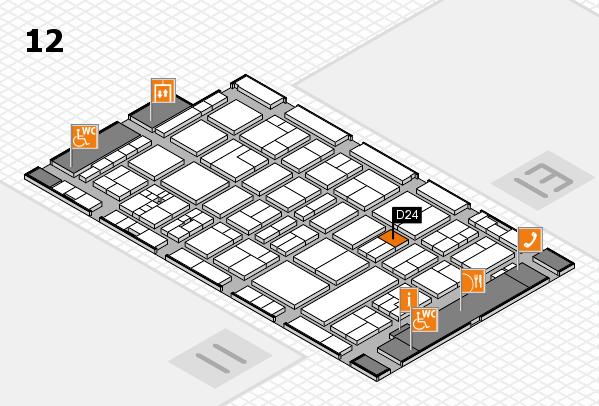 drupa 2016 Hallenplan (Halle 12): Stand D24