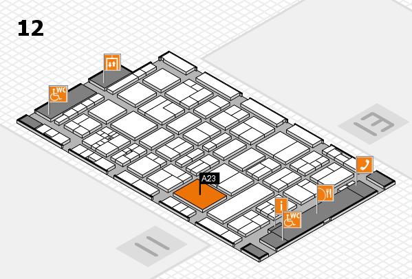 drupa 2016 hall map (Hall 12): stand A23