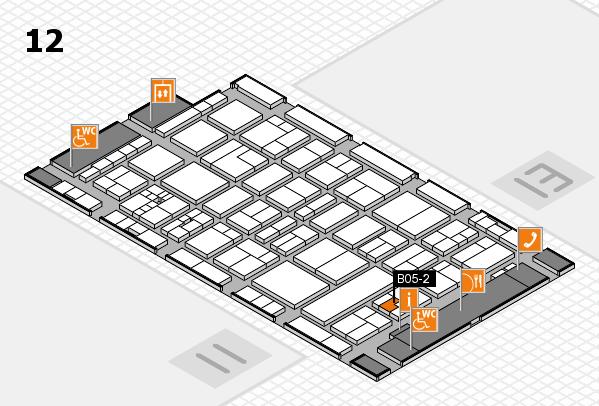 drupa 2016 Hallenplan (Halle 12): Stand B05-2