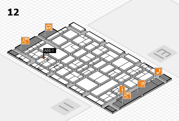 drupa 2016 Hallenplan (Halle 12): Stand A55-1