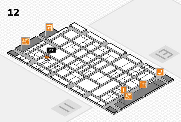 drupa 2016 hall map (Hall 12): stand B56