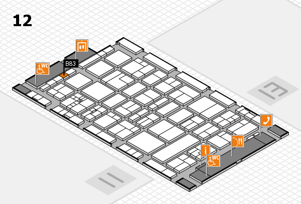 drupa 2016 hall map (Hall 12): stand B83
