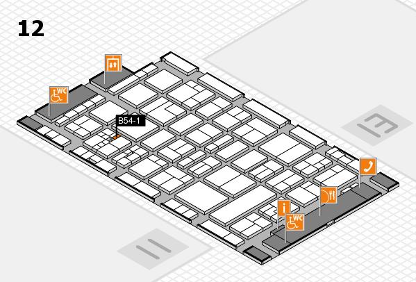 drupa 2016 Hallenplan (Halle 12): Stand B54-1