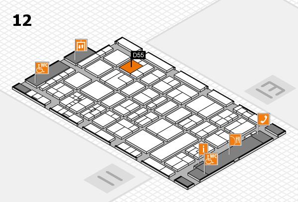 drupa 2016 Hallenplan (Halle 12): Stand D55