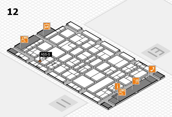 drupa 2016 hall map (Hall 12): stand A55-5
