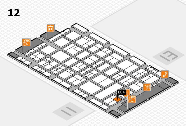 drupa 2016 Hallenplan (Halle 12): Stand B04