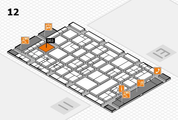 drupa 2016 Hallenplan (Halle 12): Stand B63