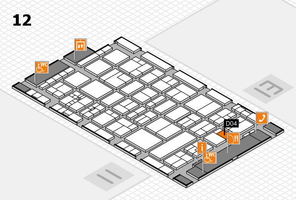 drupa 2016 Hallenplan (Halle 12): Stand D04