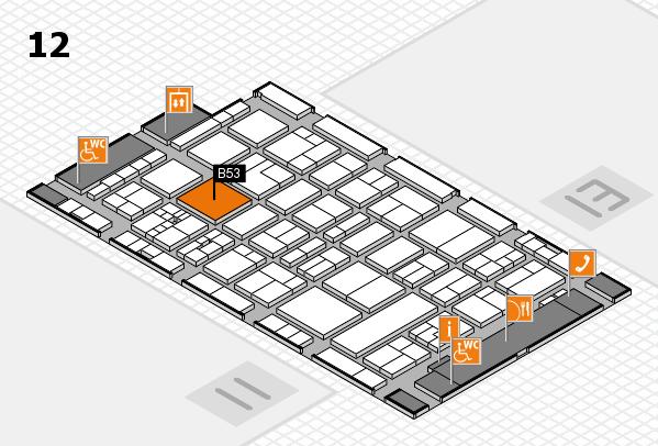 drupa 2016 Hallenplan (Halle 12): Stand B53
