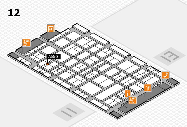 drupa 2016 Hallenplan (Halle 12): Stand A55-3