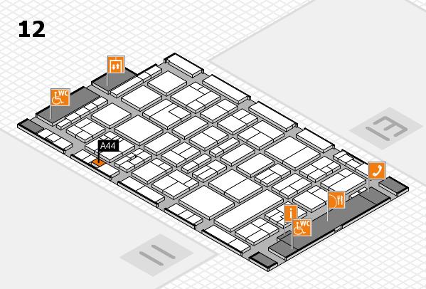 drupa 2016 Hallenplan (Halle 12): Stand A44