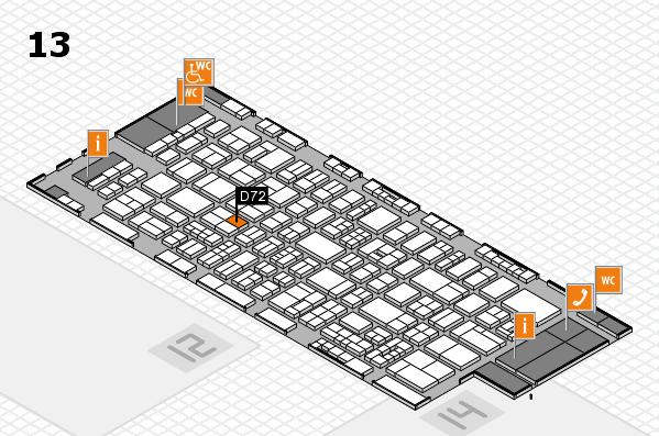 drupa 2016 Hallenplan (Halle 13): Stand D72