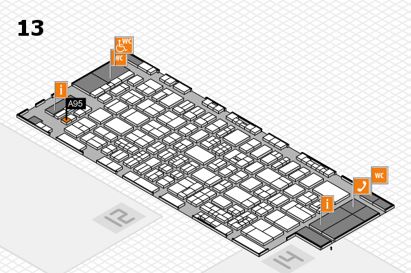 drupa 2016 Hallenplan (Halle 13): Stand A95