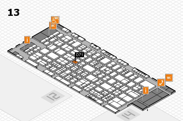 drupa 2016 Hallenplan (Halle 13): Stand D71