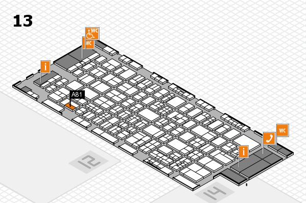 drupa 2016 hall map (Hall 13): stand A81