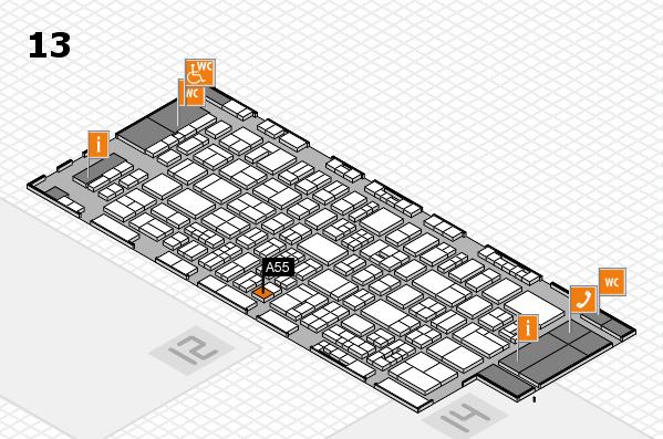 drupa 2016 Hallenplan (Halle 13): Stand A55