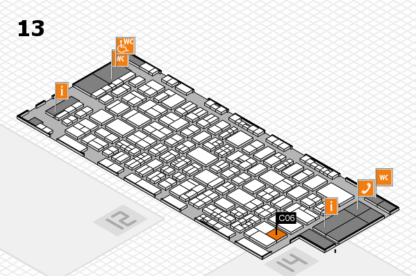 drupa 2016 Hallenplan (Halle 13): Stand C06